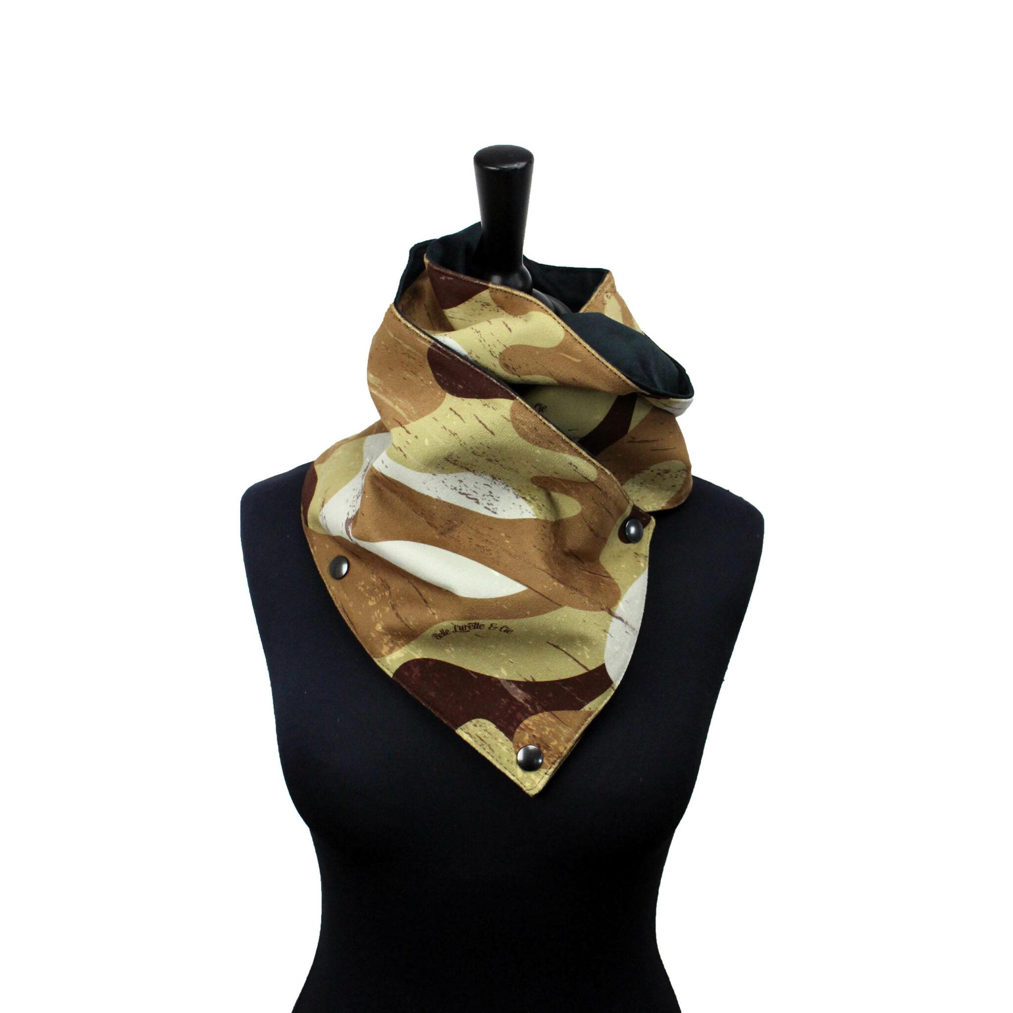 Écharpe Camouflage Beige