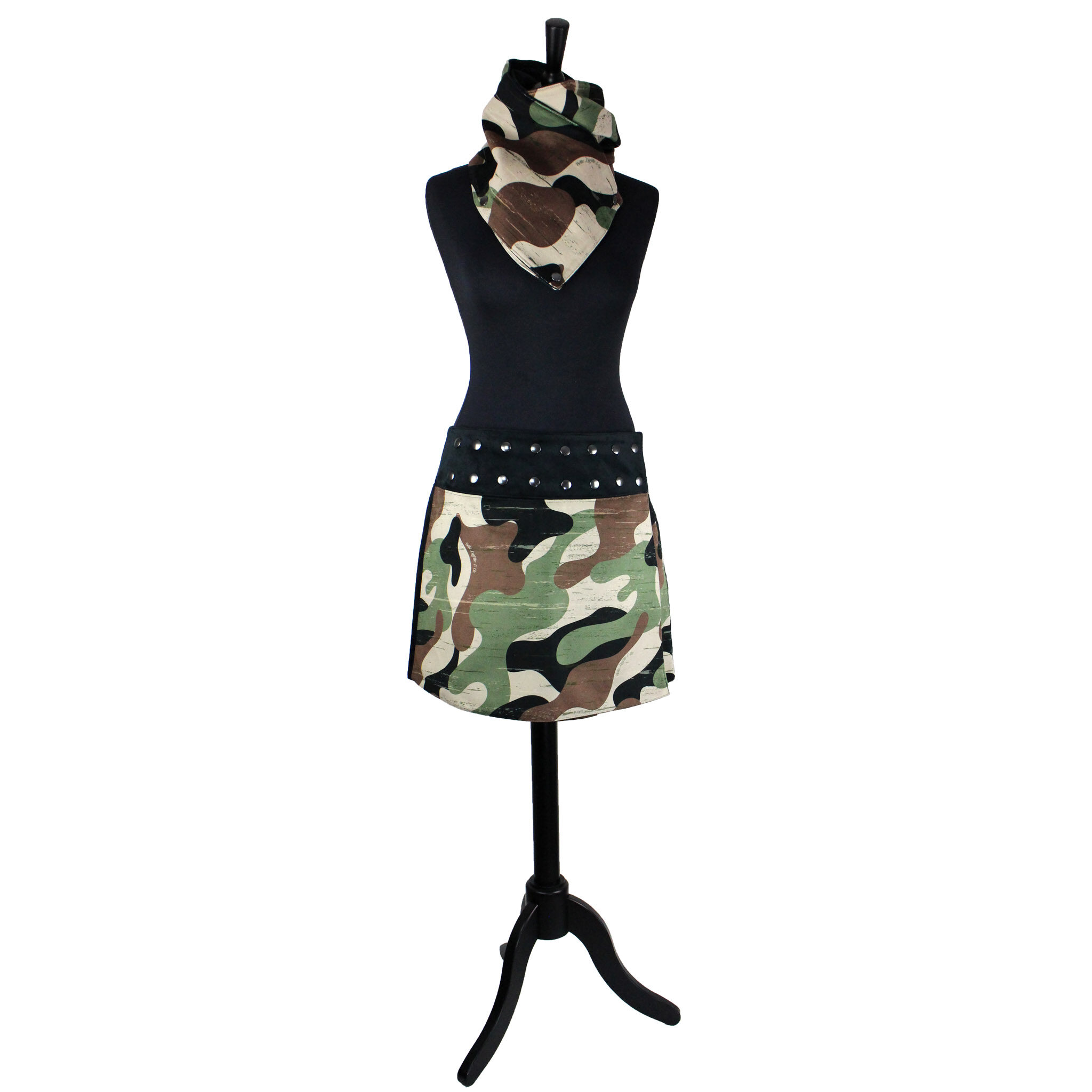 Jupe Pression Camouflage vert