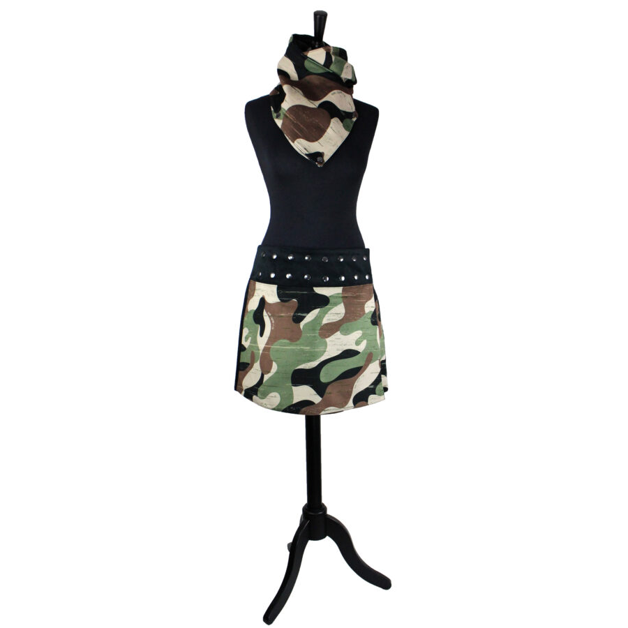 Jupe Pression Camouflage vert