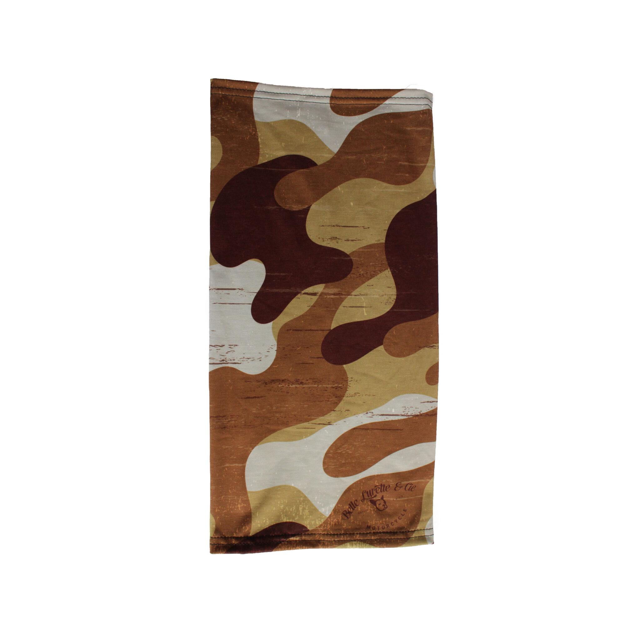 Tour de cou camouflage beige