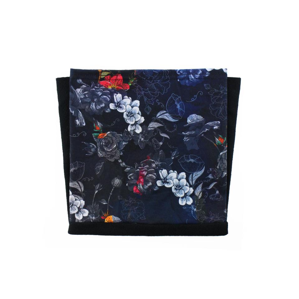 Tour de cou Fleurs Bleu Polaire