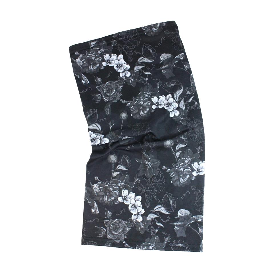 Tour de cou Fleurs noir